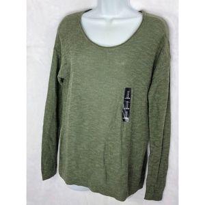 Gap Slub Slub Lightweight Sweater Medium Green